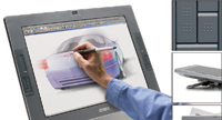 Wacom s Cintiq 21UX interactive pen display allows you to work digitally as if you were using pencil and paper.