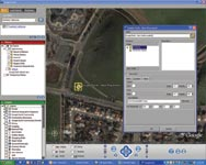 Figure 1. Georeferencing an AutoCAD model requires identifying the latitude and longitude of the project coordinate system's origin. ExtractKML supports this operation by importing a Google Earth placemark file. The user simply navigates to the project origin using Google Earth and digitizes a placemark.