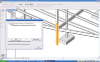 Figure 2. Unsupported objects are listed and highlighted in Revit Structure 3.