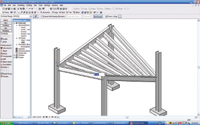 Figure 4. New beam offset dimension simplifies the process of creating sloped beams.