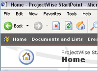 Figure 3. ProjectWise StartPoint, an entry-level CAD management and collaboration tool based on Microsoft Office SharePoint, ships with MicroStation XM.