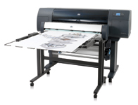 The HP Designjet 4500 combines high-throughput color printing, copying and scanning with unattended operation and high output quality.