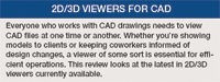2D/3D Viewers for CAD