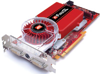 The new ATI FireGL V7350 graphics card features 1GB of onboard memory and two dual-link DVI-I outputs.