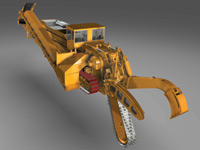 Figure 2. Mastenbroek, the world's leading designer and manufacturer of made-to-measure trenching machines, designs new-generation hard-rock trenchers using Autodesk Inventor. This rendering demonstrates Inventor's ability to handle very large assemblies.