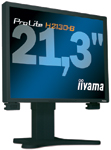 The Iiyama PLH2130-B1 includes software that allows users to make monitor adjustments directly from their workstations.