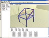 Figure 3. Dr. Frame3D lets users apply loads interactively as they develop frame structures.