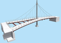 Figure 1. This is the elegant Carol Creek Bridge modeled by Rob Peterson.