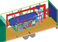 "Figure 3. This is an oil field test separator modeled by ""3D Jack"" Foster, a strong advocate of 3D design."