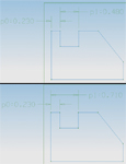 Figure 4. Be careful how you dimension things. If you hold everything to ±.005, you could possibly add extra tolerances. One design (top) has a possible tolerance of ±.010, and another design (bottom) has a possible tolerance of ±.005.