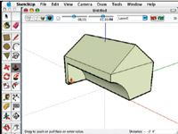 Figure 4. You can download trial versions of software and later buy it. That can be a great way of getting a good idea of what's out there. Google's SketchUp software is very easy to learn and use.