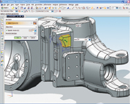 Figure 2. Features, such as the extrude shown in this graphic, are relatively easy to create with the NX sketcher tool.
