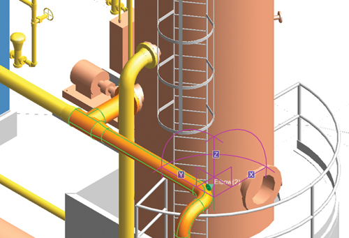 how to connect open pipes in plant 3d
