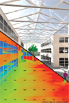 Figure 2. IES's RadianceIES is a powerful lighting-simulation program that enables architects, engineers and lighting specialists to predict the light levels and appearance of a space before construction.