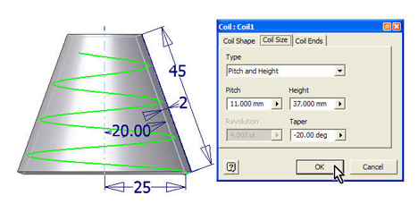 how to make a spiral coil in autocad