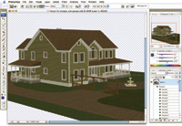 Figure 1. An Adobe Photoshop CS3 Extended screen showing a U3D 3D file open inside the application.