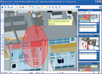 Figure 4. Mark-up and annotation tools in Newforma Project Center can be used with any document or file type, including CAD and BIM files. Markups are searchable and preserve their information context.