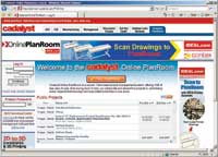 Figure 2. Free plan rooms, such as the Cadalyst PlanRoom, offer extensive functionality for storage, exchange, distribution, and collaboration.