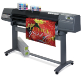 The HP Designjet 5500ps is a color thermal inkjet printer with six print heads that offers dye- or pigment-based ink options.