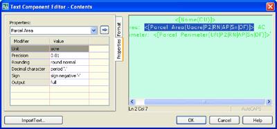 The Text Component Editor -- Contents (CAD Clinic: Civil 3D Tutorial ...