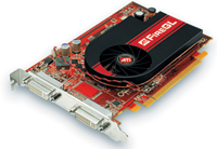 The ATI FireGL V3350 from AMD is an entry-level graphics accelerator with 256 MB of DDR2 memory.