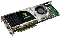 The NVIDIA Quadro FX 5600 is an ultrahigh-end PCIe graphics card based on the G80GL GPU and has 1.5 GB of GDDR3 memory onboard.