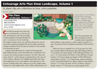 Entourage Arts Plan View Landscape, Volume 1