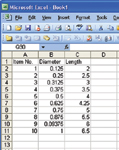 Figure 1. Microsoft Excel will import tables directly into most 3D modelers.