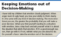 Keeping Emotions out of Decision-Making