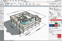 Figure 1. Google SketchUp, a favorite tool of architects, is earning attention in the manufacturing sector for its ease of use and great results. It s one of several free modeling tools available for MCAD.