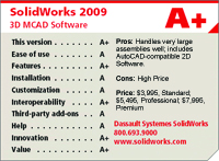 SolidWorks 2009 3D MCAD Software