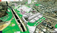 Figure 2. The 50-million-square-foot area east of Dodger Stadium was the focus of BIMStorm LA.