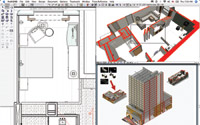 Figure 1. ArchiCAD 11 on the Mac combines the power of mainstream BIM authoring with the polish of the Mac interface, as in this visualization and contract document example for a 531-room Wyndham Hotel in Phoenix by Orcutt | Winslow. (Courtesy Orcutt | Winslow Architecture, Planning, Interior Design)