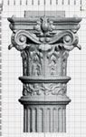 Figure 5. 3D image of the capital drawing, generated from the point cloud.