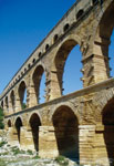 Figure 1. The Roman aqueduct carried by the 2,000 year-old Pont du Gard in France was an astounding feat of 3D civil design — maintaining a 1:3,000 pitch for a distance of 31 miles. (Copyrighted image courtesy of Jerry Laiserin)