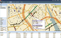 Figure 2. An Internet-based software service, Envista enables utilities, municipalities, and highway agencies to share construction and maintenance project information on a map. By locating multiple projects in both space and time, Envista automatically flags conflicts for visibility of project-coordination issues. (Image courtesy of Envista)