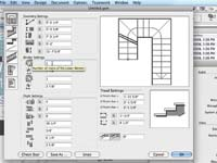 Figure 2. Related to ArchiCAD 12's system-editing capability, the program includes an entirely new stair-maker function that incorporates greater flexibility than ever before in complex stair layouts, winders, and so forth.