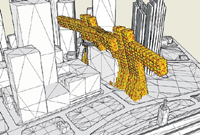 "Figure 2. The staff at Anderson Anderson used Google SketchUp to study the prophetic project, dubbed ""Bay Towers of Babel-On."" The neighboring structures were drawn in Rhino."