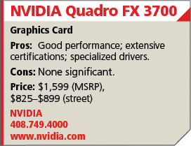 NVIDIA Quadro FX 3700 (First Look Review) | Cadalyst