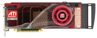 The ATI FireGL V8600 is a high-end graphics card with 1 GB of onboard memory and stereoscopic 3D display capabilities.