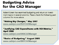 Budgeting Advice for the CAD Manager