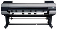 "The Canon imagePROGRAF iPF9000S is a thermal aqueous ink-jet printer that can accommodate media as wide as 60"" and as thick as 0.8 mm at a maximum output resolution of 2,400 x 1,200 dpi."