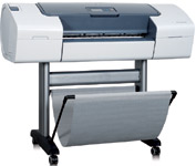The Designjet T610 printers incorporate 128 MB of RAM and connect via a single high-speed USB 2.0 certified port, an EIO Jetdirect accessory slot, or optional HP Jetdirect print servers.
