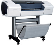 The HP Designjet T1100MFP Series thermal ink-jet multifunction printer–scanner–copier can handle 300ft rolls and cut sheets as long as 5.5ft with a maximum media width of 42in.