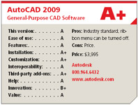 AutoCAD 2009 General-Purpose CAD Software