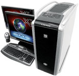 The Xi MTower 2P64X workstation is based on dual processors. The system we reviewed had two Intel quad-core processors.