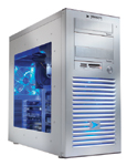 Velocity Micro s ProMagix W160 sports a clear window to show off the blue lights that illuminate internal components.