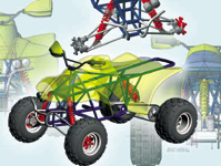 Figure 3. This quad-bike design was the first-place winner in the Alibre Design Xpress contest. It was designed by Grant Marshall.