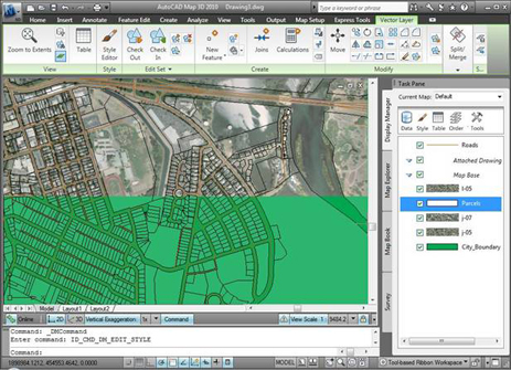 Autocad map 3d 2010 first look review cadalyst autocad map 3d allows you to combine multiple file formats such as shp sdf dwg and jpeg sciox Images