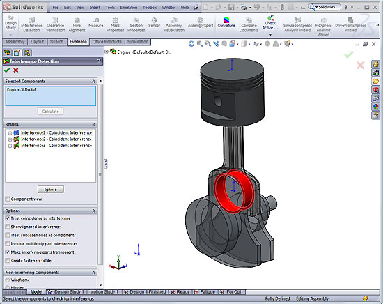 Solidoworks how to do analysis on portion of assembly